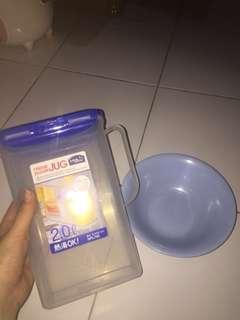 Take all 25k mangkok plus water jug