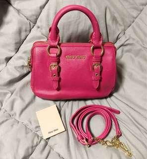 Miu Miu Madras Bowling Bag (Small) Sling / Crossbody