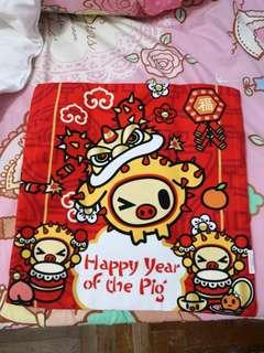 BN Porcino Pig Year Cushion with Insert ♡️ BNIP Midnight Posy Be Light Jujube