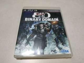 PS3 Game Binary Domain 遊戲碟 日英版