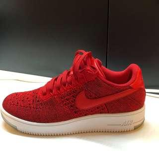 1fa87eed2b1a Nike Air Force 1 Low Flyknit Red