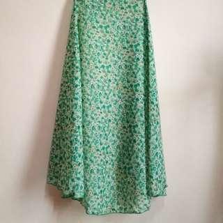 Pre❤️ Halfmoon Shawl (Green Floral) #MFEB20