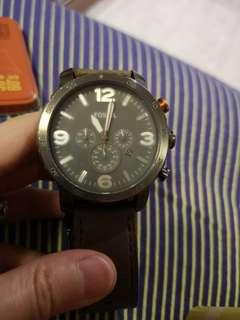 Fossil Chronograph Men's Leather Watch