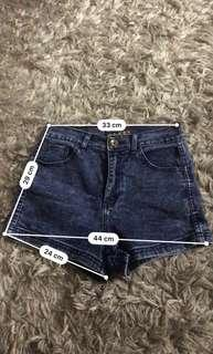 Short pants - elastic jeans