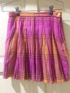 Girl's Pleated Plaid Skirt Size L