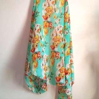 Pre❤️ Butterfly Shawl (Turquoise Floral) Chiffon #MFEB20