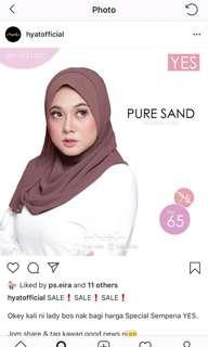 Hyat Pure Sand Instant Shawl size M