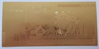 CNY (Pig Year) Golden notes