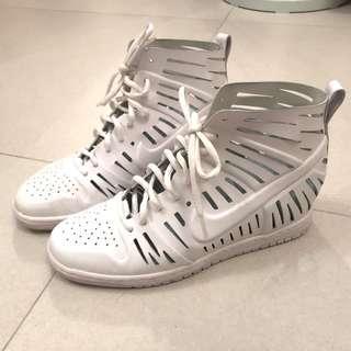 Nike Women Sneakers 女裝全白色高跟波鞋