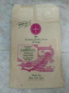 Vintage paper bag- S. Ahmed & Co