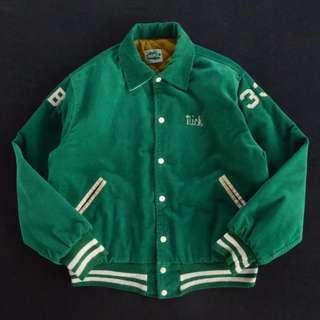 🚚 🇺🇸1979s美國製綠色復古燈芯絨外套 美式足球刺繡夾克 男女皆可Vintage 歐美帶回古著