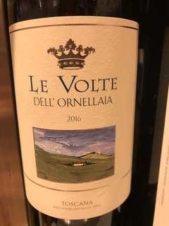 🚚 2016 Le Volte dell'Ornellaia Toscana IGT 750ml