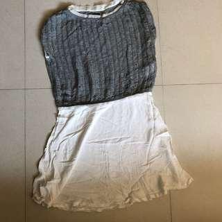 izzue knit & cotton dress
