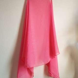 Pre❤️ Butterfly Shawl (Pink Glitter) Chiffon #MFEB20