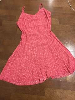 Cotton on pink flowers dress