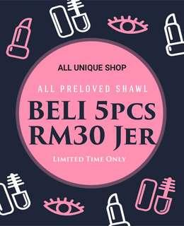 ALL PRE❤️ SHAWL (5pcs for RM30 Jer) #MFEB20