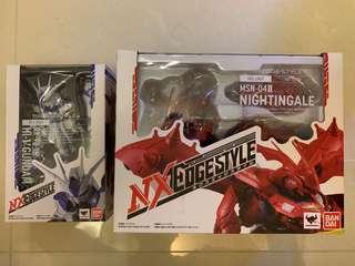 (全新港版)Bandai NXedge Hi-Nu Gundam(NX0018), Nightingale(NX0019)