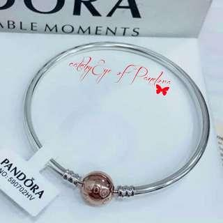 Pandora bangle w/ rosegold clasp