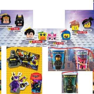 🚚 [Juniorcloset] 🆕️ Happy Meal toy McDonald's Lego movie 2 The Lego batman movie Lego movie cup