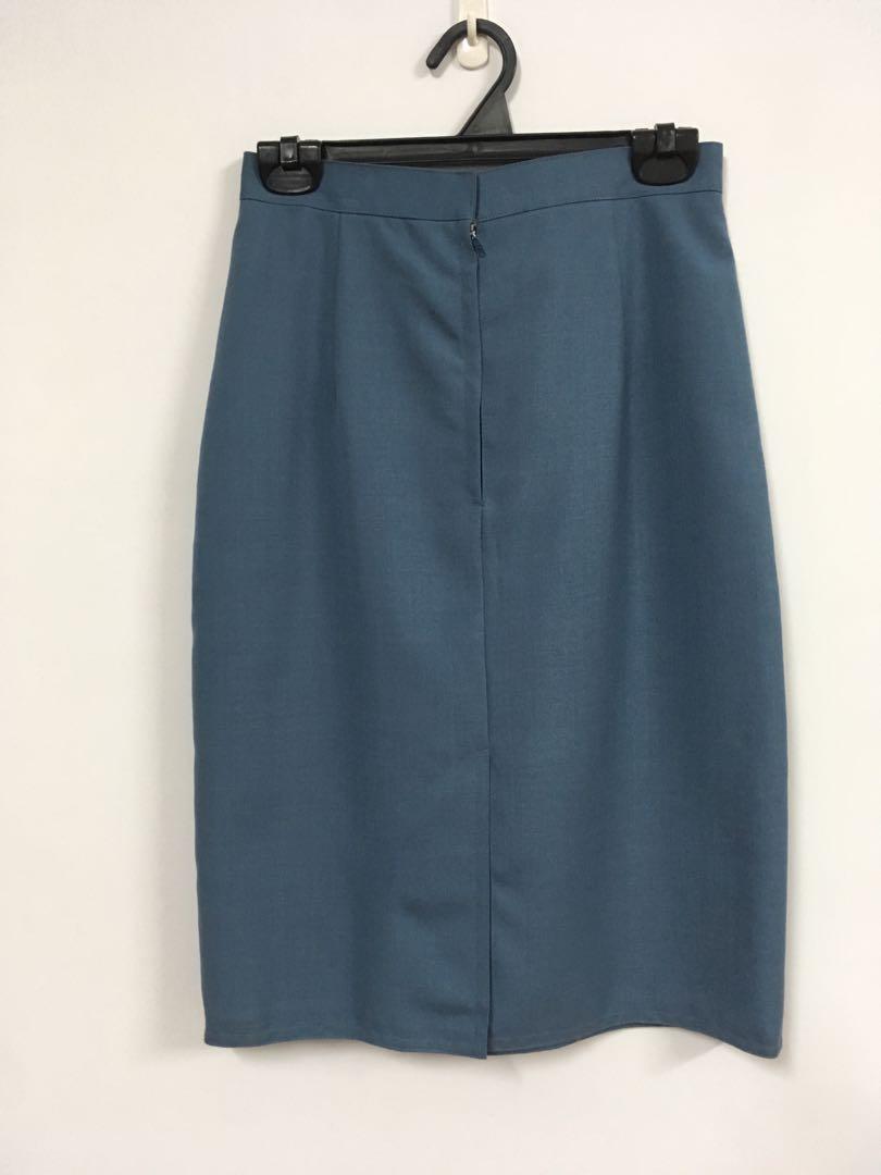 全新 短裙 A字裙 窄裙 氣質 上班族 女生 古著 復古