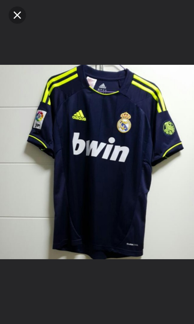 8964104cc ADIDAS Real Madrid 12/13 3rd Jersey, Sports, Sports Apparel on Carousell