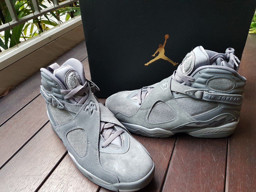 quality design 04068 46e3a Air Jordan 8 wolf grey US9, Men s Fashion, Footwear, Sneakers on ...