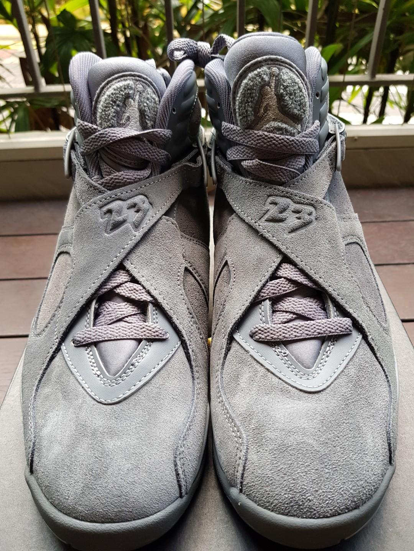 1a04f085b8ea48 Air Jordan 8 wolf grey US9