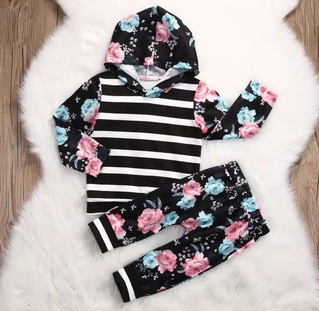 Baju bayi import lucu murah setelan hodie