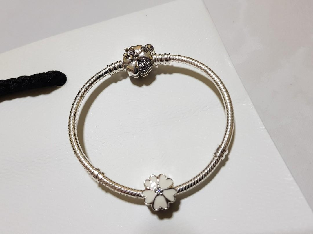 4017891138ec1 BN Pandora Wildflower Meadow Bracelet with Primrose Charm, Women's ...