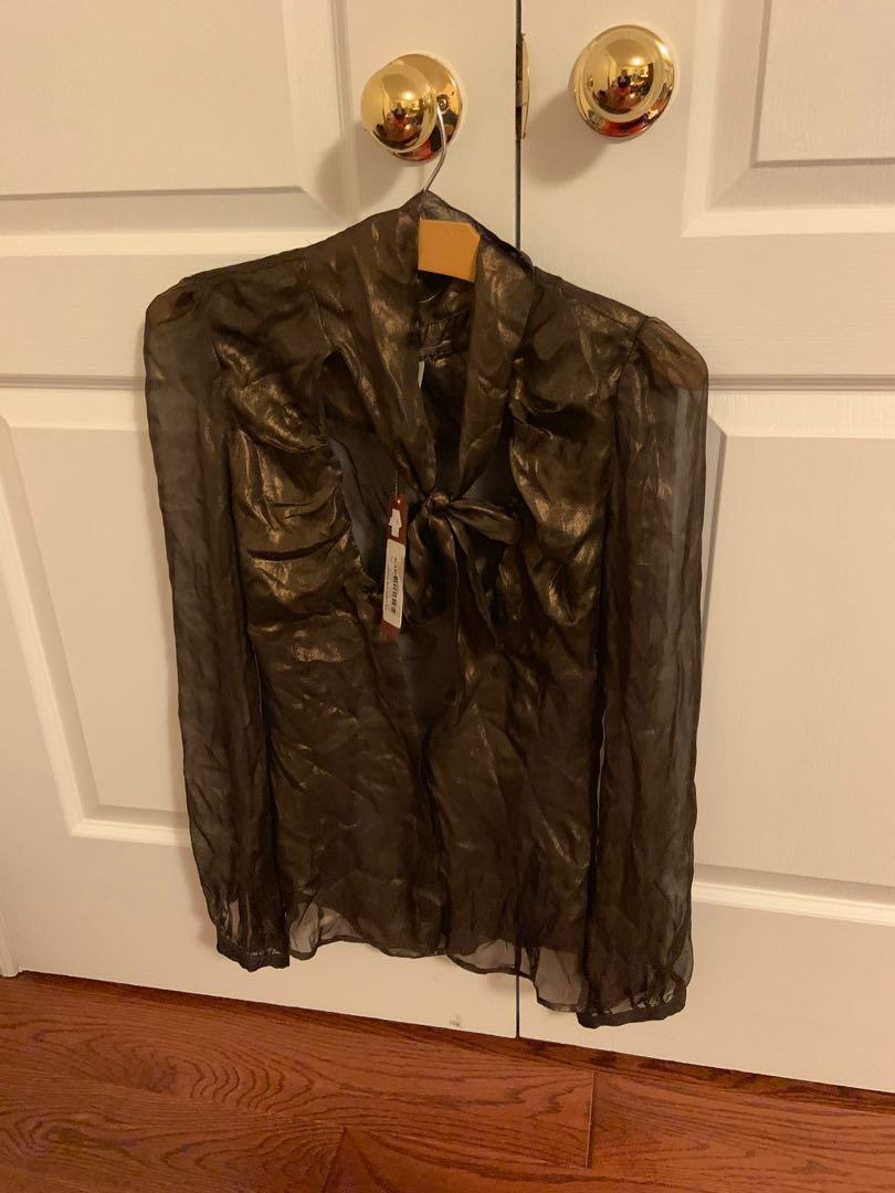 BNWT. 100% silk miss sixty button up top. Retails $269. Size S
