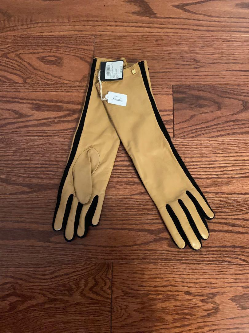 BNWT. Club Monaco Italian long leather gloves. Size S. Retails for $129.50