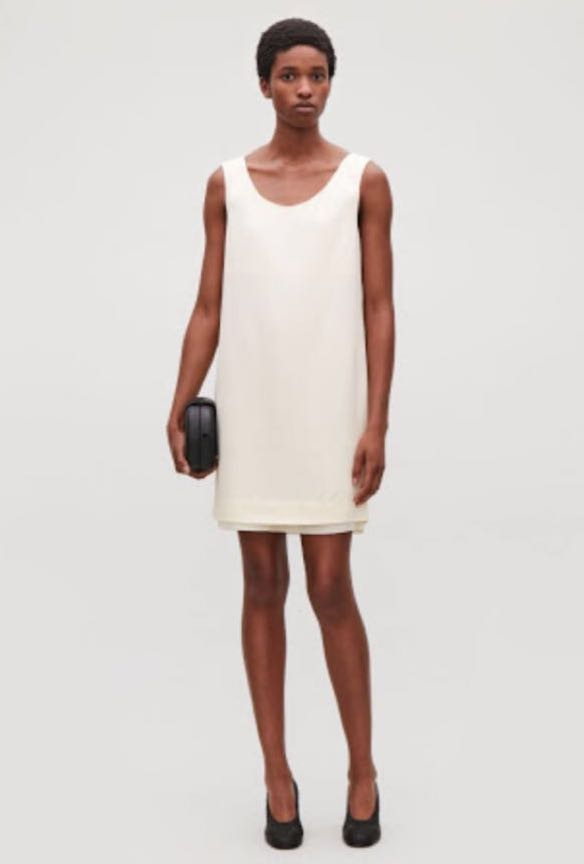 65ff41263a55 BNWT COS Short sleeve dress - Light Sand, Women's Fashion, Clothes ...