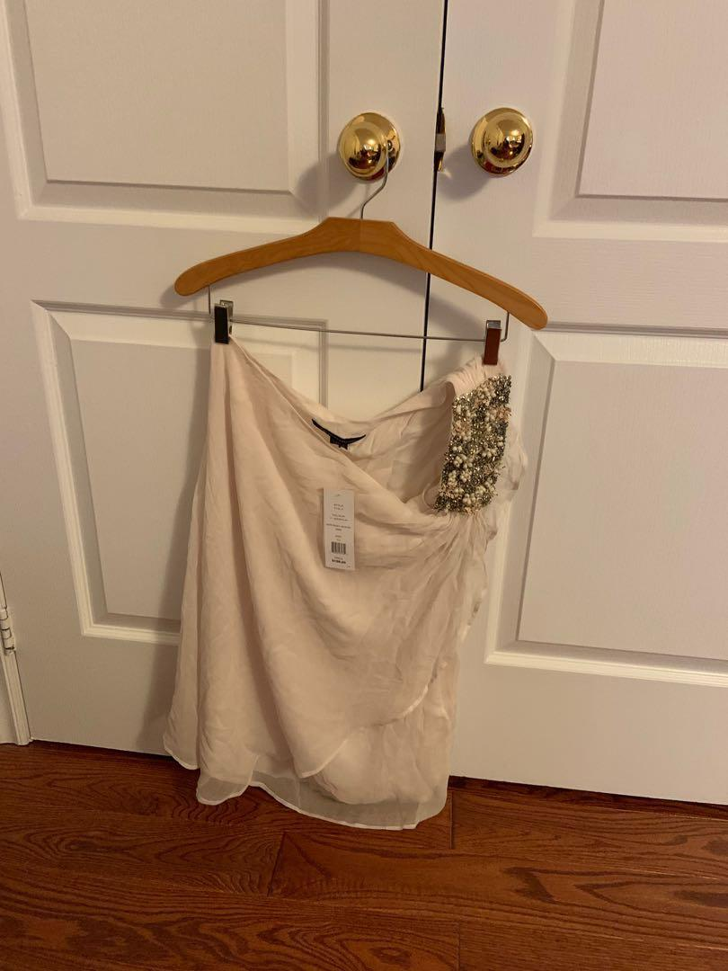 BNWT. French connection one shoulder dress. Size 10. Retails $198