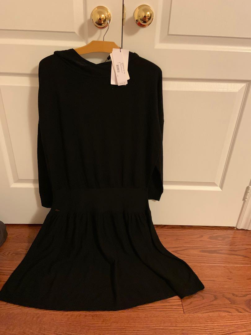 BNWT. Hooded Lacoste sweater dress. Retails for $275. Size 42