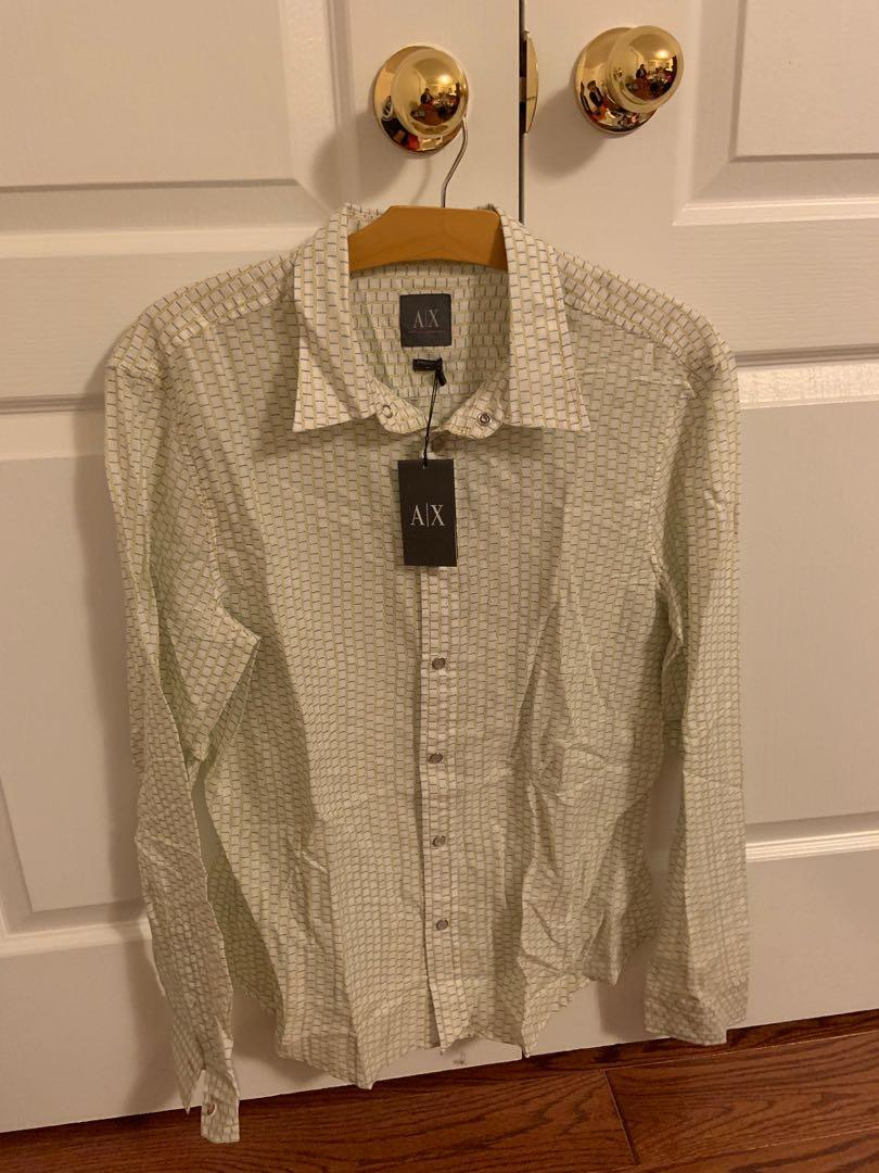 Brand new with tag. Armani exchange dress shirt. Size M