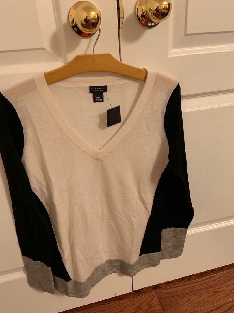 Brand new with tag. Club Monaco merino wool sweater. Size M