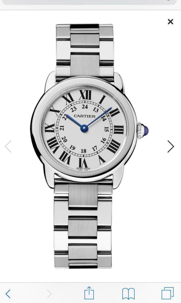Cartier RONDE SOLO DE CARTIER WATCH 29 MM STEEL