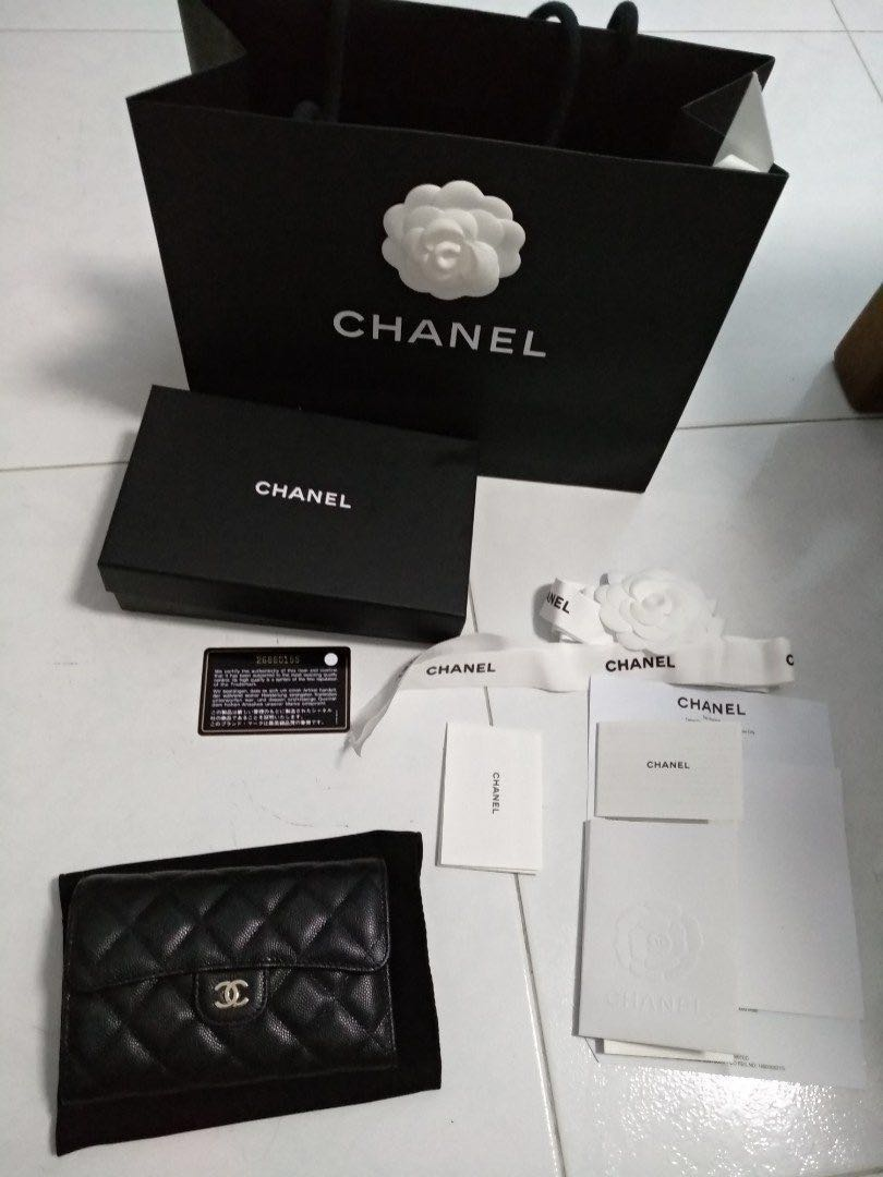 26cf37d7cfea1e Chanel Classic Flap Wallet (26 Series) Medium Size Caviar Leather ...