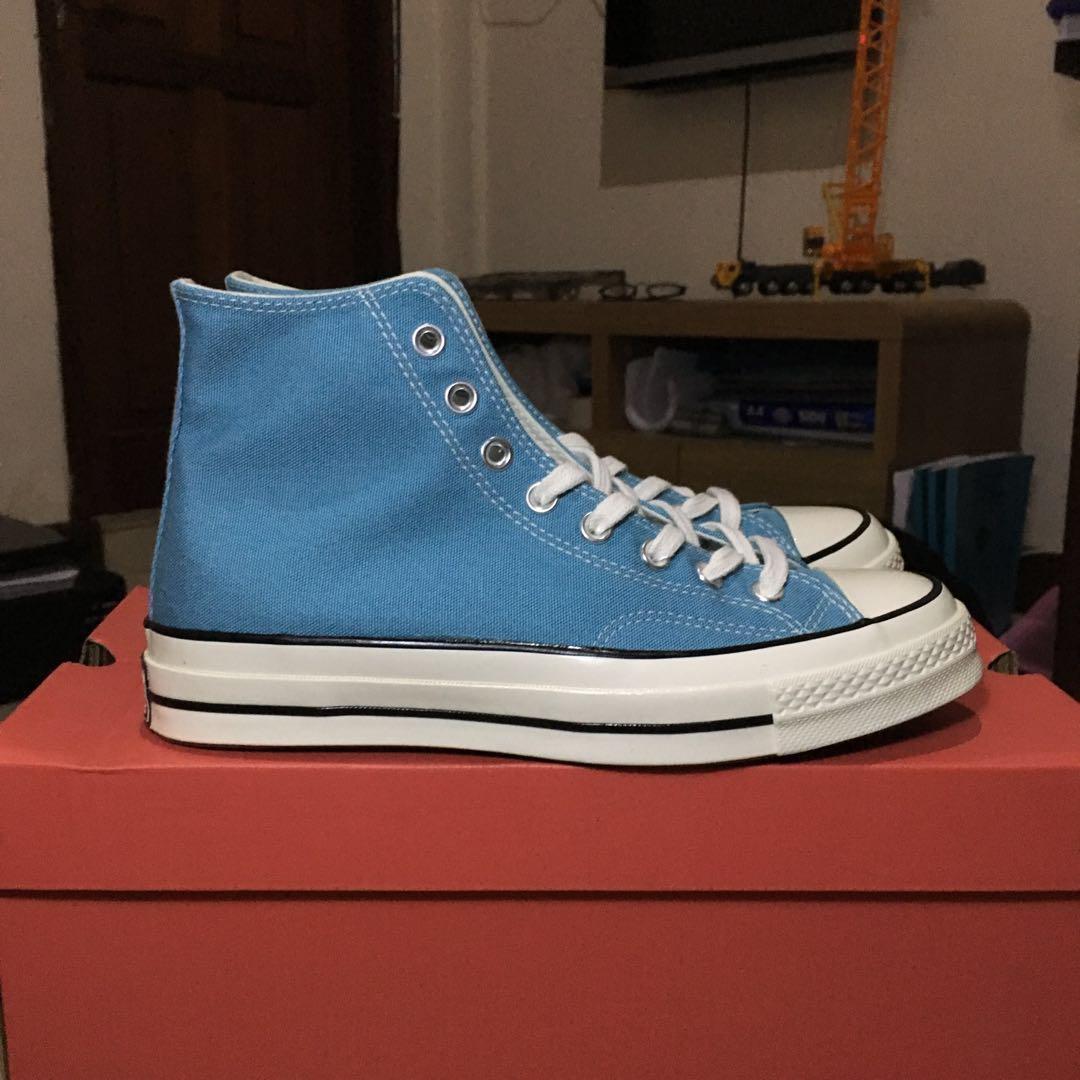 Converse CTAS 1970s / 70s Hi Shoreline Blue/Egret bkn BW Black/White (Original 100%)