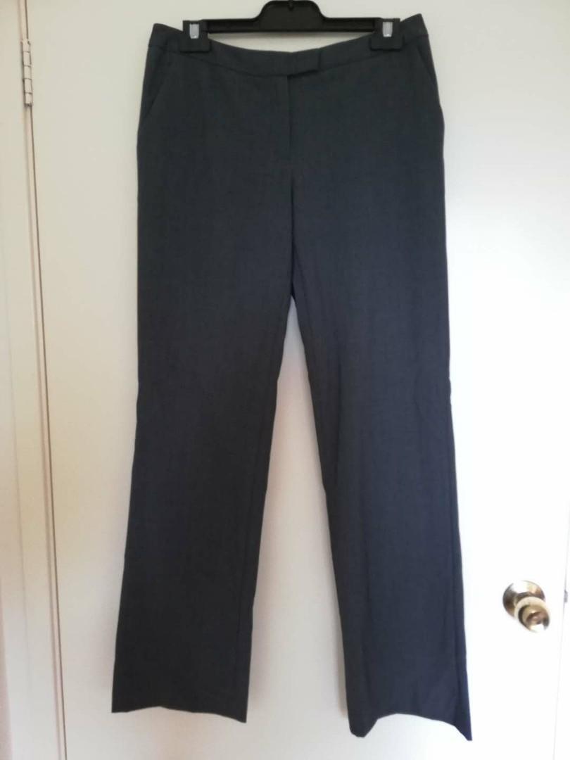 Two Piece Dark Grey Calvin Klein Pant Blazer Suit Set US 4 / AU 8