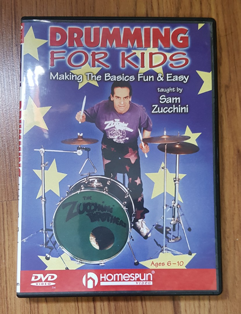 Drumming For Kids DVD by Sam Zucchini, Music & Media, CDs