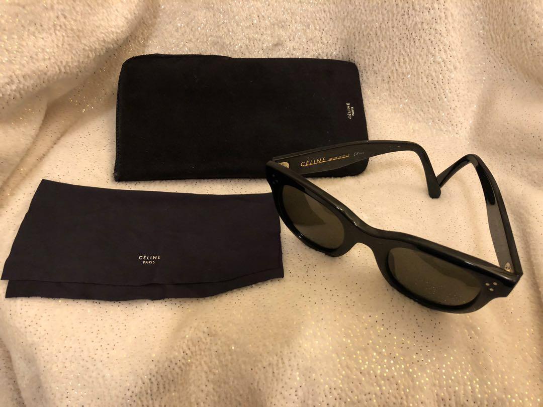 Genuine Celine sunglasses baby Audrey Hepburn style reciept I voice rrp $600 black sunnies sunglasses designer logo dot cc celine