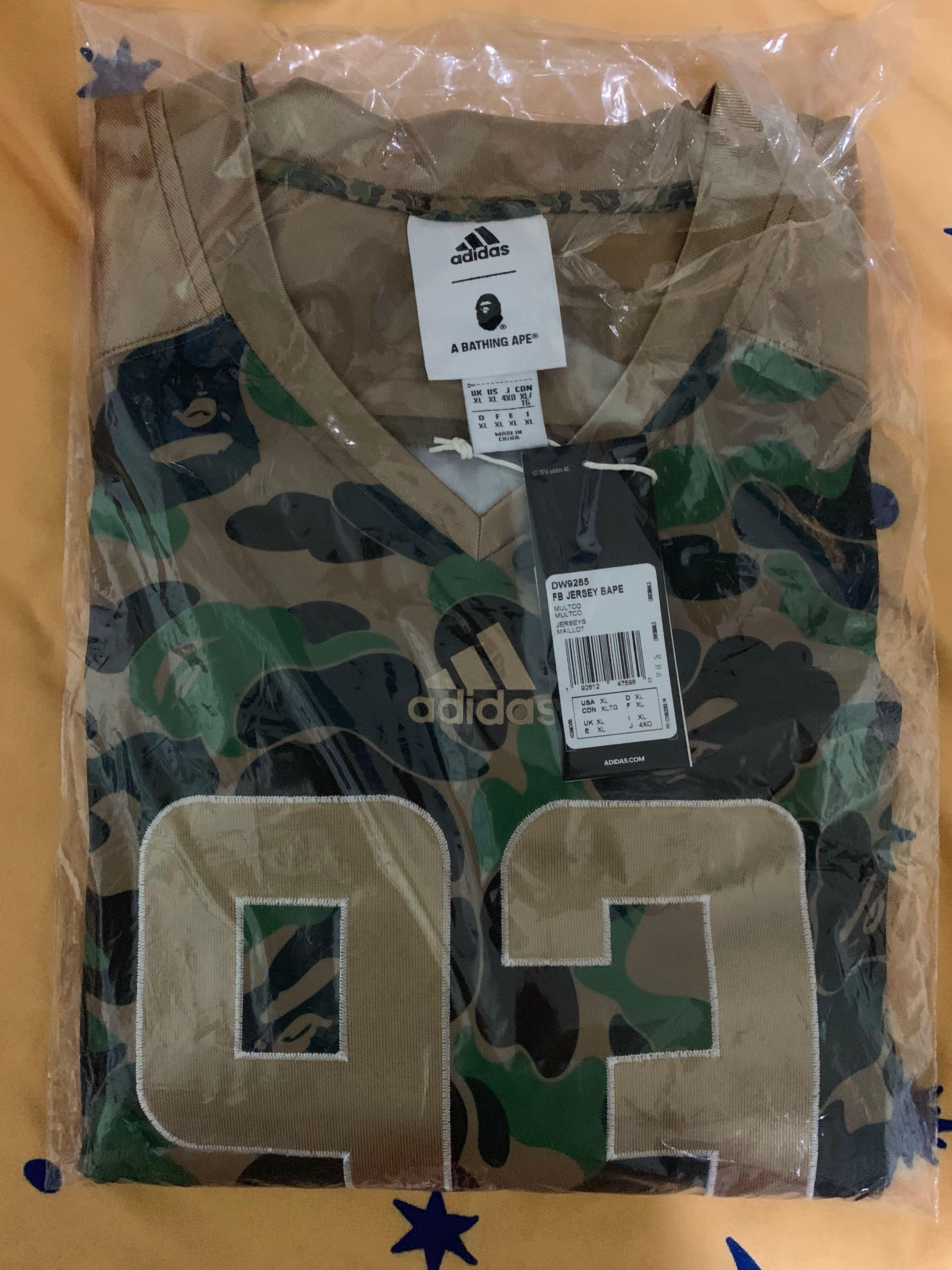 e0fb30fb Instock] Bape x Adidas SB Jersey (XL), Men's Fashion, Clothes, Tops ...