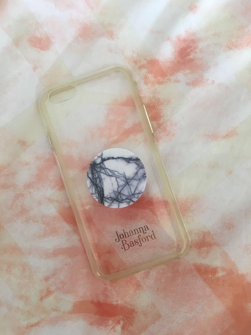 iPhone 6/6s case w marble popsocket buyer offers price