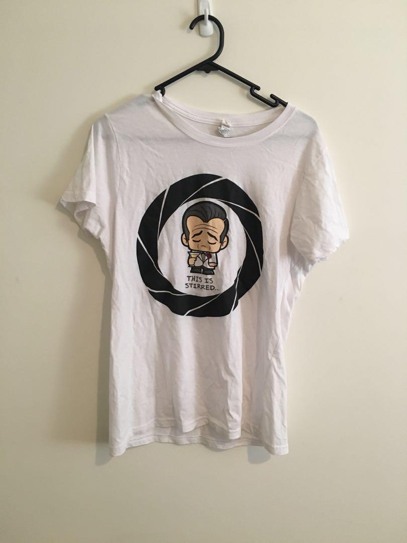 James Bond white tee shirt