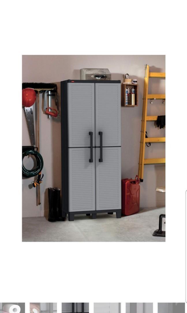 Keter Space Winner Tall Metro Storage Utility Cabinet ...
