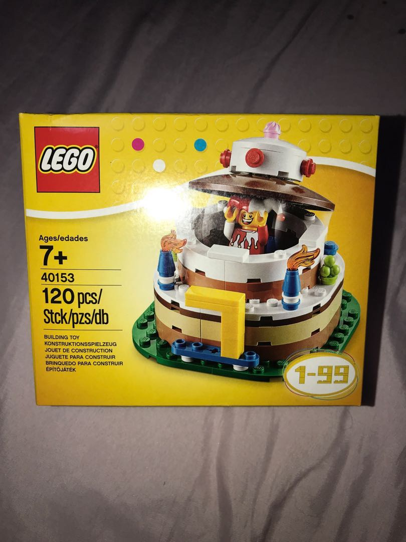 LEGO Birthday Decoration Cake Set 40153 Toys Games Bricks