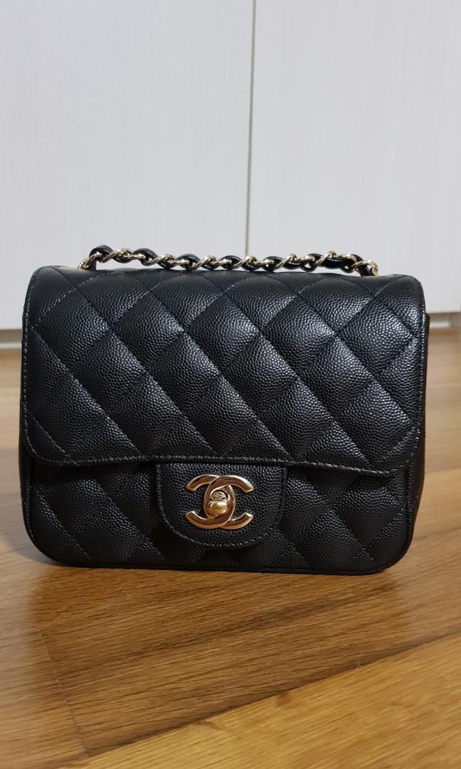 5602dd677fe0 Authentic & LNIB Chanel Square Mini in Black Caviar with LGHW ...