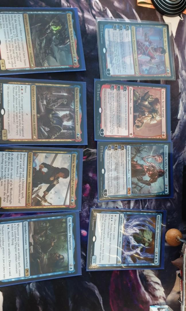 MTG Red Blue Artifacts Commander Deck With free stuff, Toys
