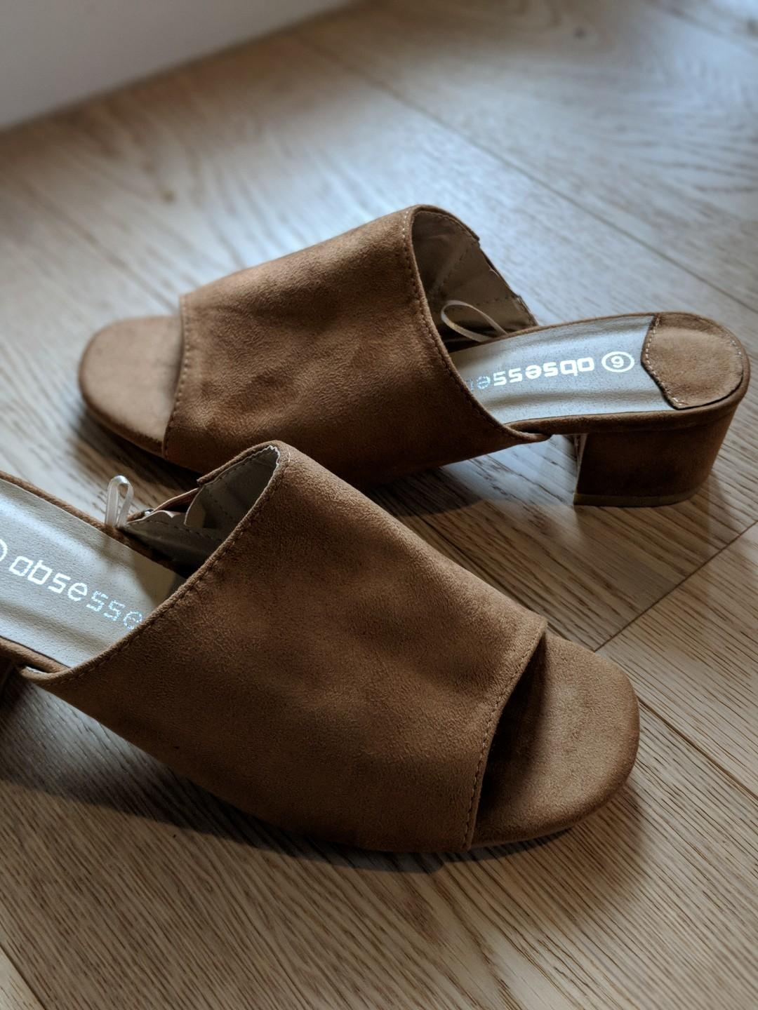 New - Spendless shoes faux suede slides size 6